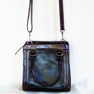 Giani Bernini Black & Brown Leather Cross Body Bag
